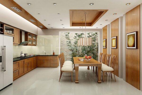 trần thạch cao phòng bếp đẹp
