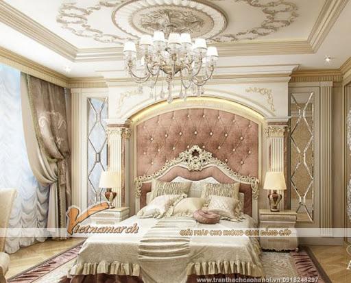 trần thạch cao cổ đirn phòng ngủ