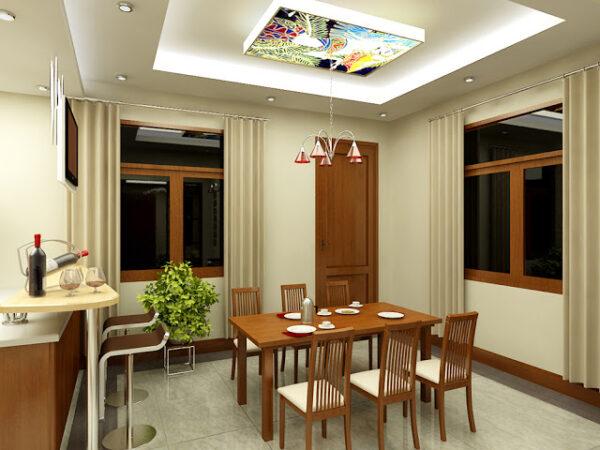 trần thạch cao phòng bếp nhỏ