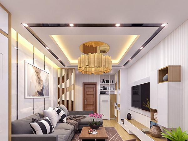 trần thạch cao hiện đại phòng khách