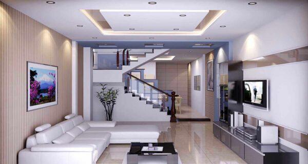 trần thạch cao phòng khách rộng