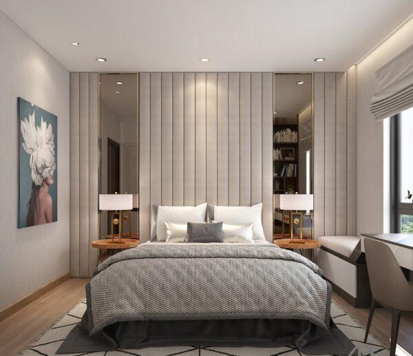trần thạch cao phòng ngủ đơn giản