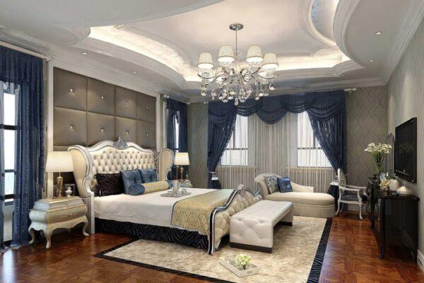 trần thạch cao phòng ngủ hiện đại