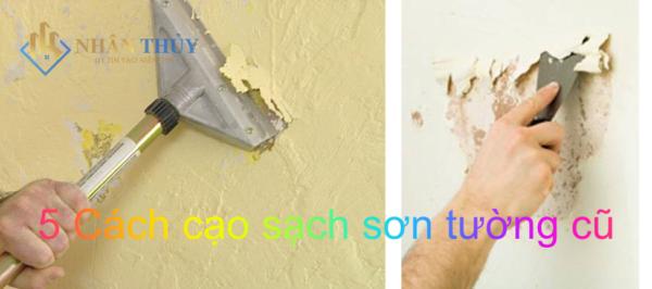 cách cạo sạch sơn tường cũ