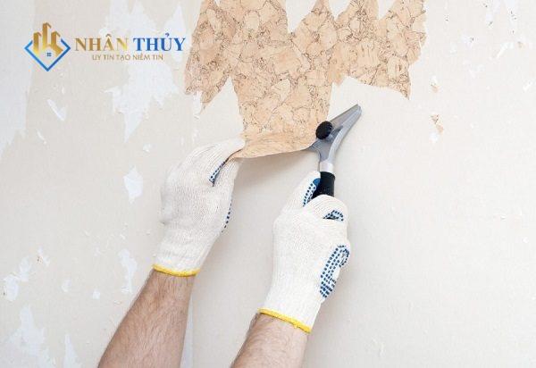 cách cạo sơn tường cũ