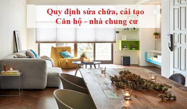 quy định sửa nhà chung cư