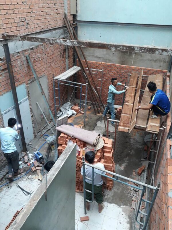 sửa nhà cấp 4 thành 2 tầng