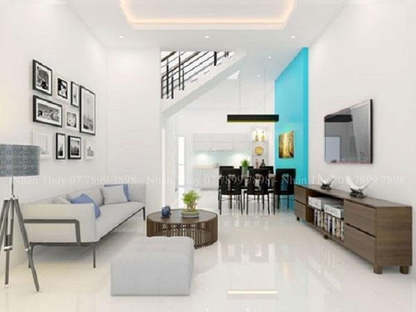 sơn phòng khách màu trắng