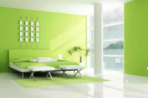 mệnh mộc nên sơn nhà màu xanh lá cây