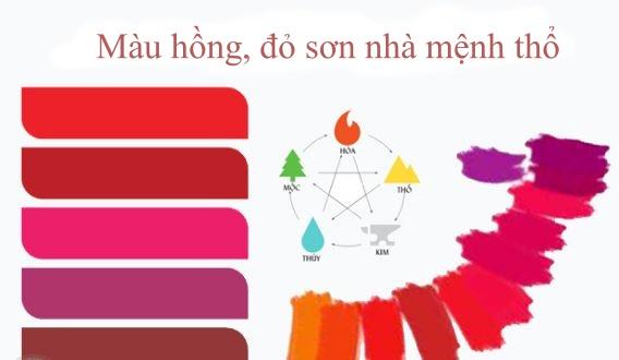 mệnh thổ sơn nhà mà hồng