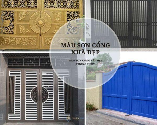 màu sơn cổng nhà đẹp