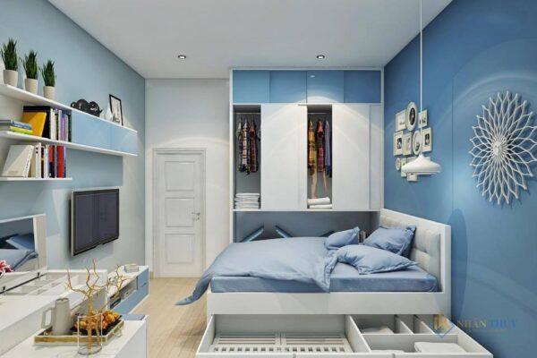 sơn nhà màu ghi xanh