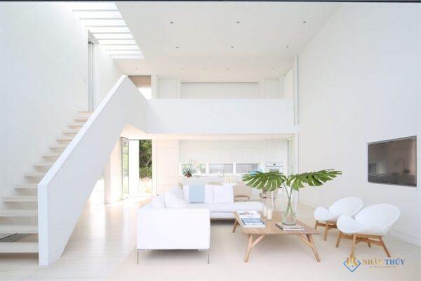 sơn nhà màu trắng ánh kim