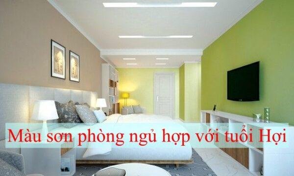 Màu sơn phòng ngủ hợp với tuổi Hợi